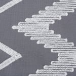 Gray Base Embroidered Chevron Table Runner - 4