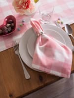 Picnic Check Pink Napkin Set of 6 - 6