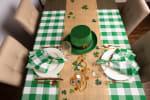 Picnic Plaid Green Cotton Tablecloth 60x104 - 1