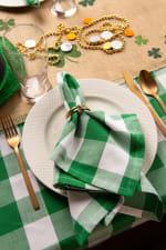 Picnic Plaid Green Cotton Tablecloth 60x104 - 4