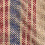 French Blue/Barn Red Middle Stripe Burlap Table Runner 14x108 - 7