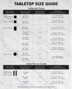 French Blue Chevron Burlap Table Runner 14x72 - 9
