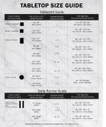 French Blue Chevron Burlap Table Runner 14x108 - 8