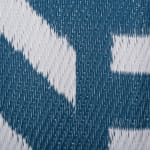 Blue Geometric Outdoor Rug 5 Ft Round - 3