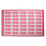 Coral Pineapple Outdoor Rug 4x6-ft - 1
