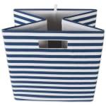 Polyester Cube Pinstripe Nautical Blue Square 13x13x13 - 5
