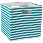 Polyester Cube Pinstripe Teal Square 13x13x13 - 2