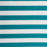 Polyester Cube Pinstripe Teal Square 13x13x13 - 3