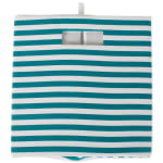 Polyester Cube Pinstripe Teal Square 13x13x13 - 5
