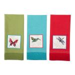 Assorted Botanical Embellished Dishtowel (Set of 3) - 5