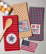 Happy 4th Of July Embroidered Dishtowel (Set of 3) - 1