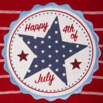 Happy 4th Of July Embroidered Dishtowel (Set of 3) - 8