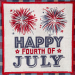 Happy 4th Of July Embroidered Dishtowel (Set of 3) - 9