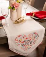 Bon Apetit Sleur Heart Print Table Runner 14x72 - 7