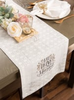 Eat, Drink, and Be Married Table Runner 14x72 - 1