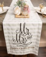 Mr. and Mrs. Table Runner 14x72 - 1