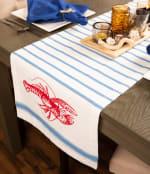 Lobster Stripe Table Runner 14x72 - 6