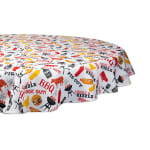 Bbq Fun Print Outdoor Tablecloth With Zipper 60 Round - 2