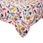 BBQ Fun Print Outdoor Tablecloth With Zipper 60x120 - 3