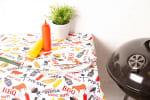 BBQ Fun Print Outdoor Tablecloth With Zipper 60x84 - 7