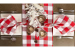 Red and White Buffalo Check Table Runner 14x108 - 1