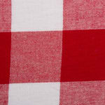 Red and White Buffalo Check Tablecloth 52x52 - 3