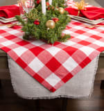 Red and White Buffalo Check Table Topper 40x40 - 5