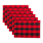 Red Buffalo Check Ribbed Placemat (Set of 6) - 2