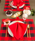 Red Buffalo Check Ribbed Placemat (Set of 6) - 5