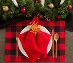 Red Buffalo Check Ribbed Placemat (Set of 6) - 6