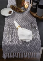 Gray Mini Diamond Table Runner 15x72 - 1