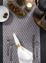 Gray Mini Diamond Table Runner 15x72 - 5