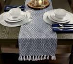 French Blue Mini Diamond Table Runner 15x72 - 1