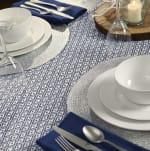 French Blue Mini Diamond Table Runner 15x72 - 6
