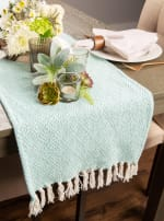 Aqua Diamond Table Runner 15x72 - 6