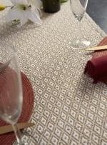 Stone Mini Diamond Table Runner 15x72 - 5