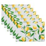 Lemon Bliss Print Outdoor  Placemat (Set of 6) - 2