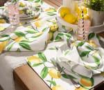 Lemon Bliss Print Outdoor  Placemat (Set of 6) - 6