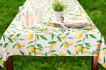 Lemon Bliss Print Outdoor Tablecloth 60x84 - 1