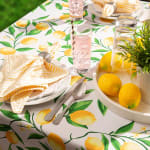 Lemon Bliss Print Outdoor Tablecloth 60x84 - 4