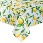 Lemon Bliss Print Outdoor Tablecloth With Zipper 60x84 - 3