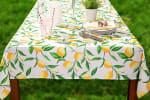 Lemon Bliss Print Outdoor Tablecloth With Zipper 60x84 - 4