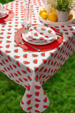 Watermelon Print Outdoor Tablecloth With Zipper 60x120 - 1