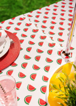 Watermelon Print Outdoor Tablecloth With Zipper 60x120 - 5