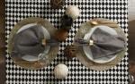 Black and Cream Harlequin Print Tablecloth 60x84 - 6