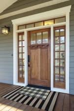 Gray & White Buffalo Check  Doormat - 6