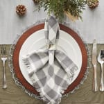 Dove Gray Ribbed Table Runner 13x72 - 5