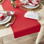 Tango Red Ribbed Table Runner 13x72 - 1