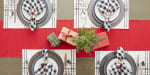Tango Red Ribbed Table Runner 13x72 - 4