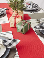 Tango Red Ribbed Table Runner 13x72 - 5